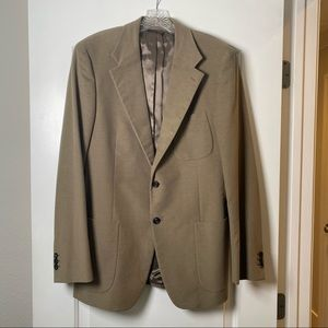 Prada Brown Velour Twi Button Jacket Blazer